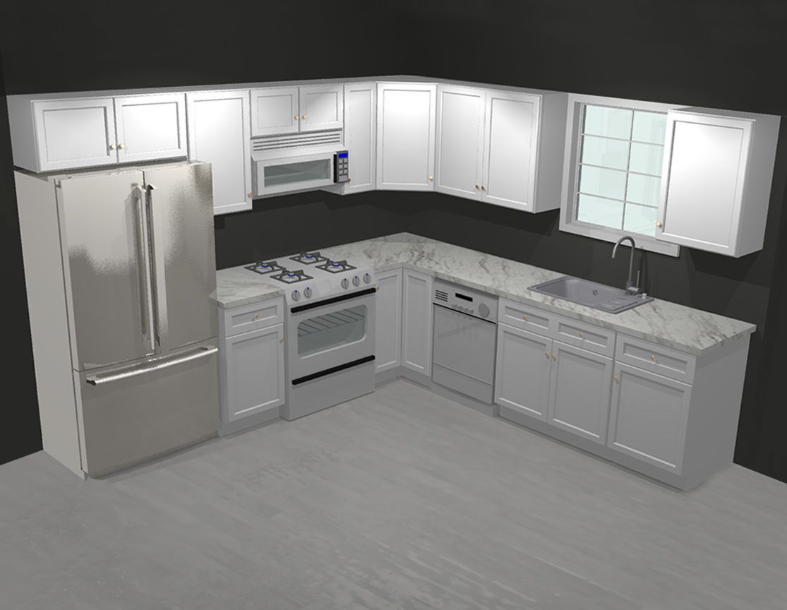 Forevermark Tsg Ice White Shaker 10x10 Kitchen Cabinets 10x10 Kitchen Kitchen Cabinets Kitchen Remodel Small