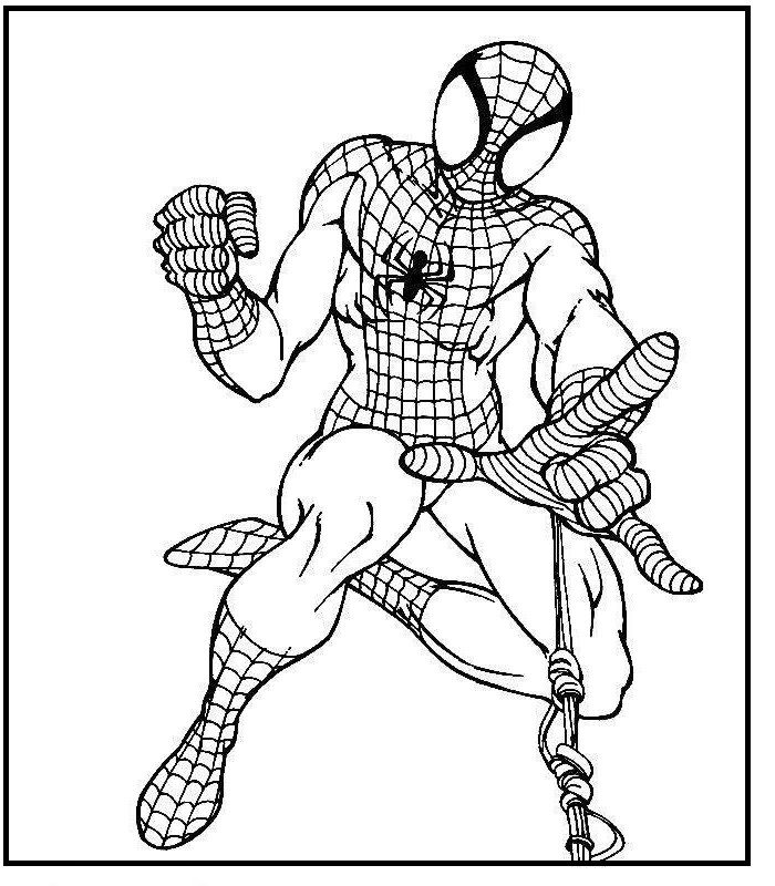 Catapult Spiderman Spider Webs coloring picture for kids | Spiderman ...