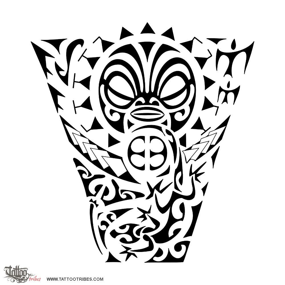 Custom Maori Tattoo Designs: Tattoo Of Tiki, Figure, Protection Tattoo