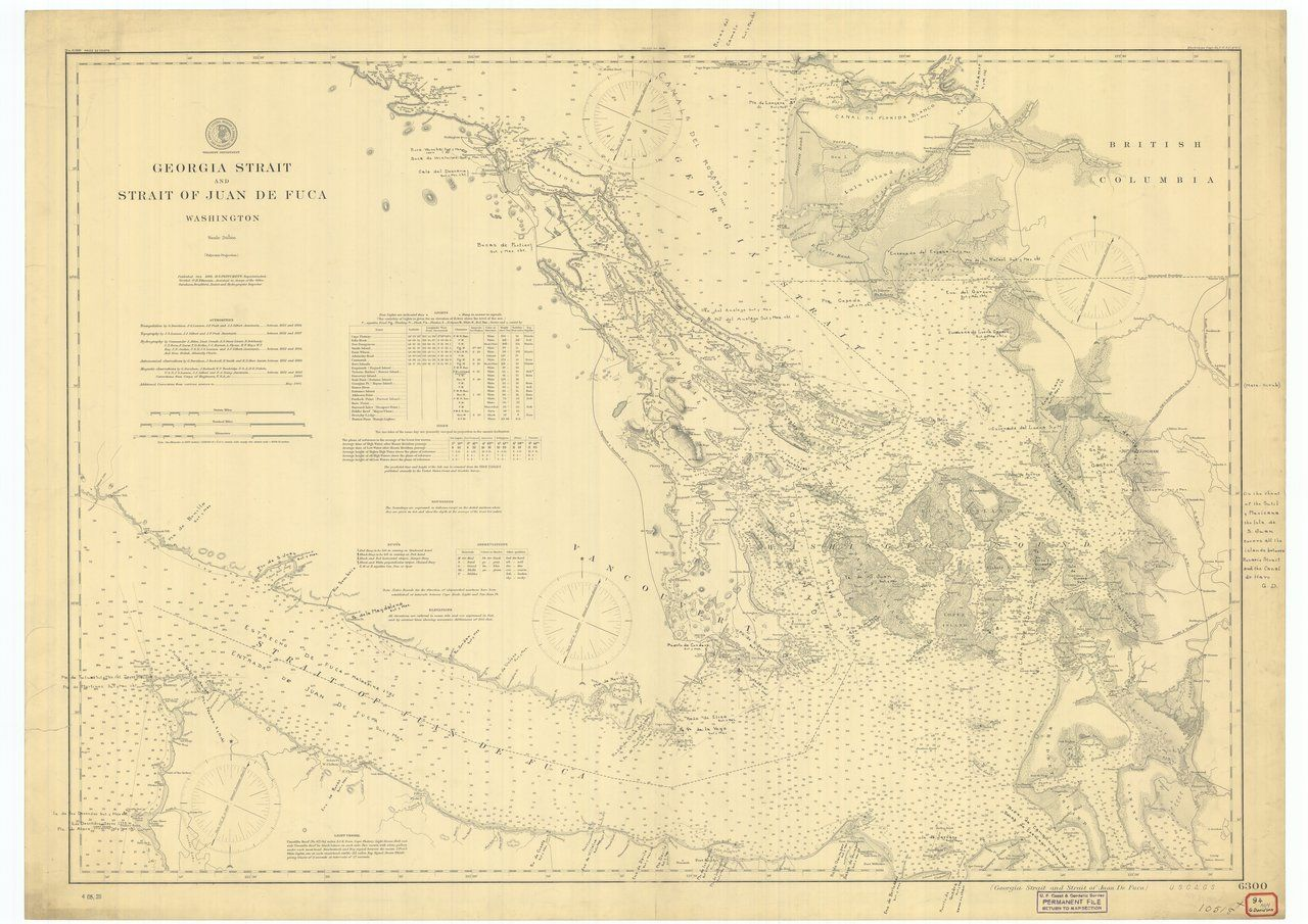 18 x 24 inch 1898 Washington old nautical map drawing chart of