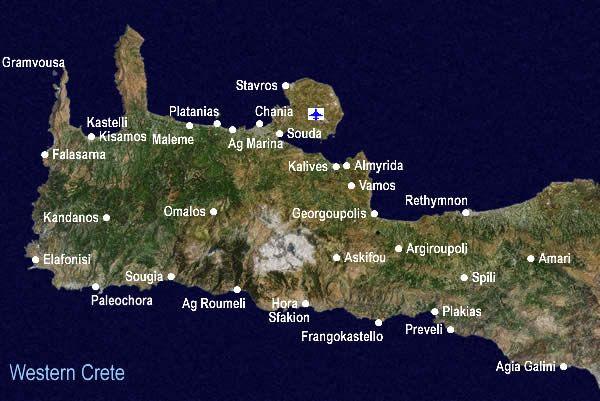 Souda Bay Crete Greece Map Greek Crete Island Pinterest Crete