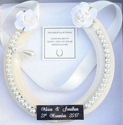 PERSONALISED Lucky HorseShoe Real Bridal Wedding Gift Si