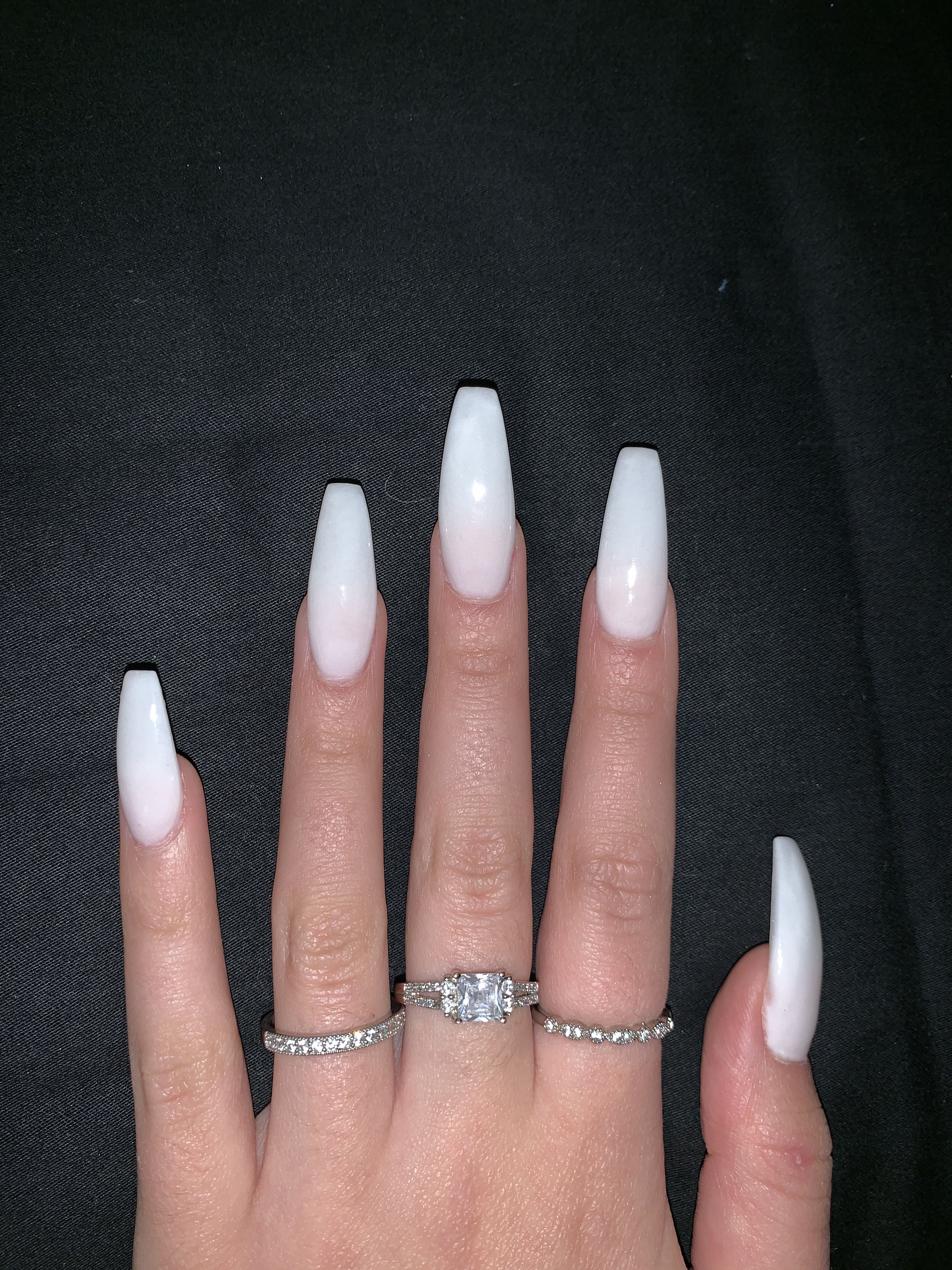 White Long Acrylic Nails Plain Acrylic Nails Coffin Nails Designs Long Acrylic Nails