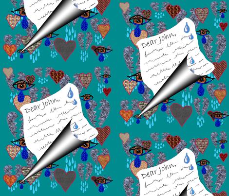 Dear John Letter fabric by amy_g on Spoonflower - custom fabric