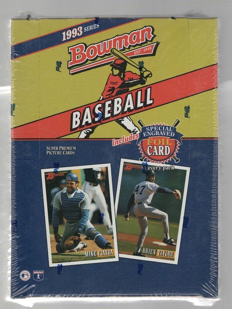 1993 bowman baseball sealed hobby box jeter rookie psa 10