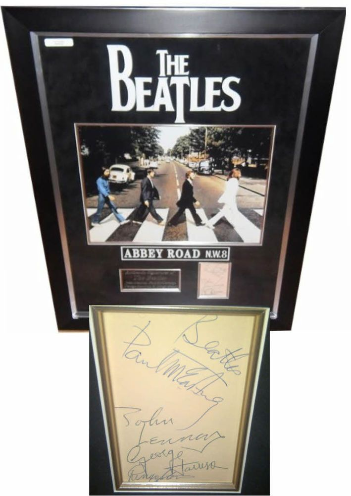 The Beatles RARE SIGNED AUTOGRAPHS with signing details