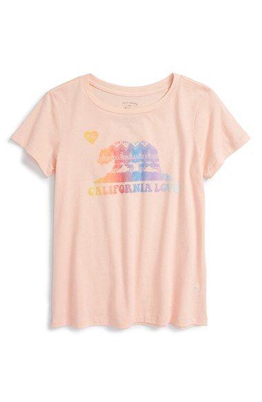Billabong 'Cali Bear' Graphic Tee (Little Girls & Big Girls)