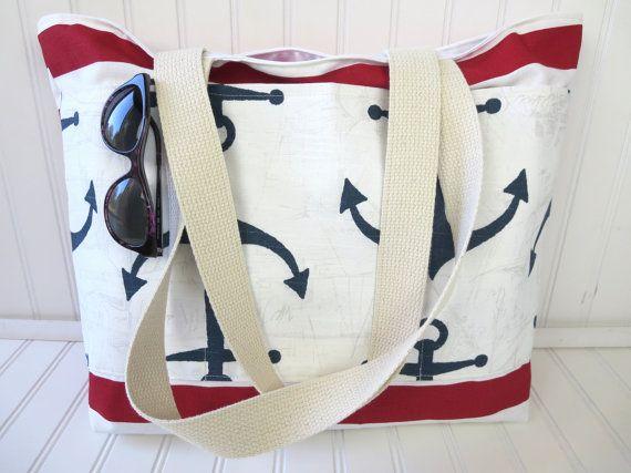 Anchor Beach Bag Nautical
