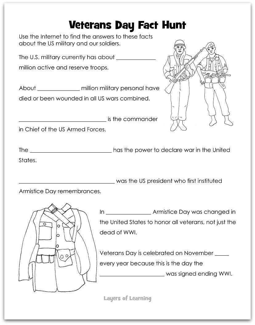 Layers Of Learning History Explore The World Hands On Veterans Day Activities Veterans Day Worksheets For Kids [ 1054 x 828 Pixel ]