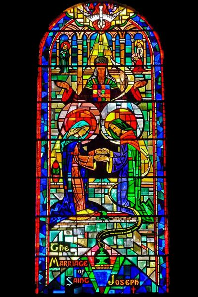 The Marriage Of St Joseph Stained Glass Window Church
