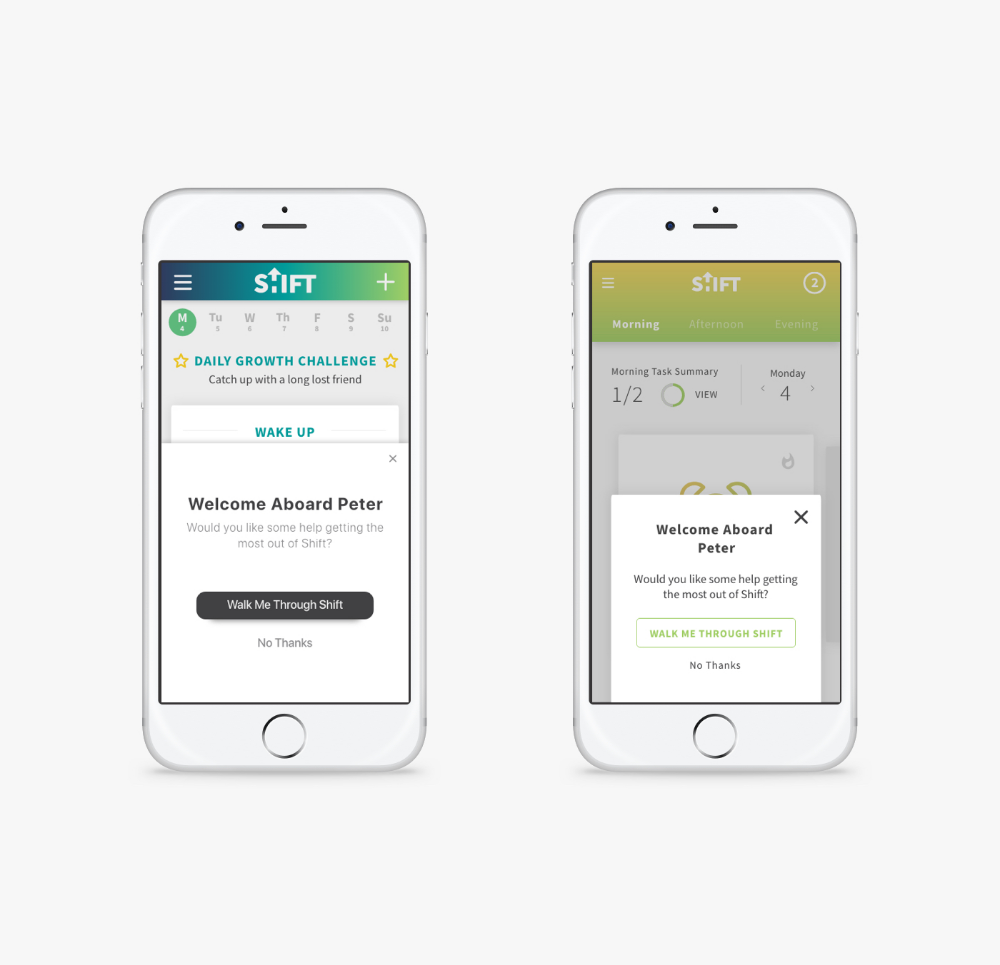 Shift is a selfimprovement app aimed to help people build