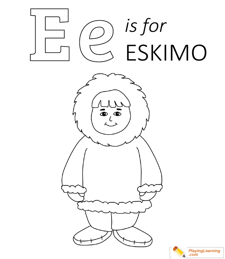 eskimo igloo coloring page for kids in   coloring