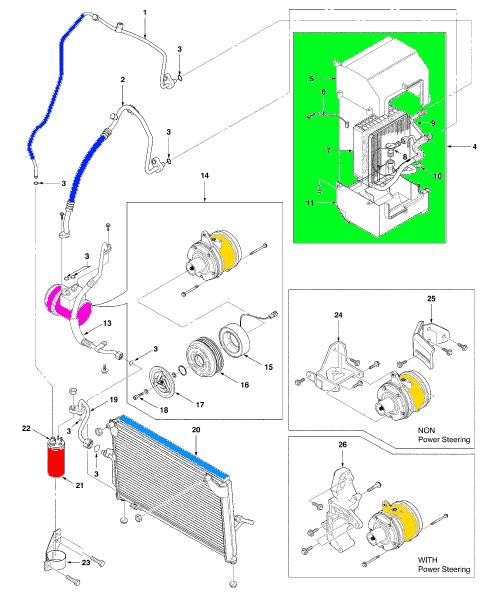 Componentes Del Aire Acondicionado Automotriz