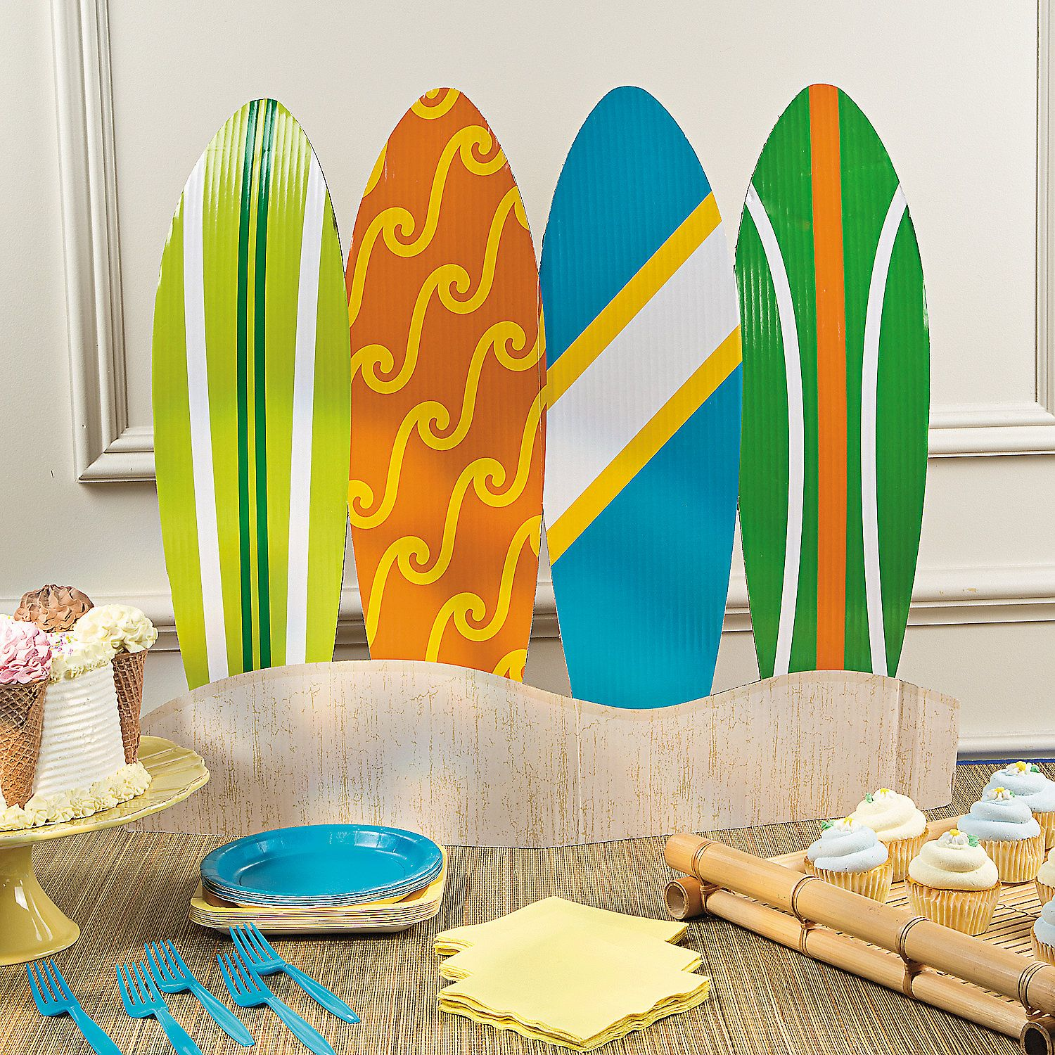 Surfs Up Birthday Table Topper Centerpieces Party Decorations