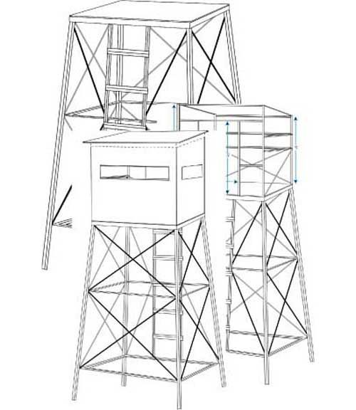 Image result for plans for hunting tower blinds for Tree stand ideas