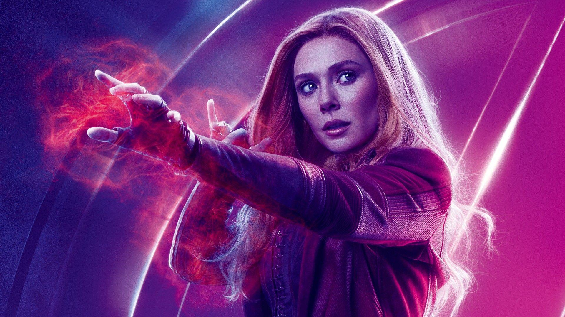 Scarlet Witch Elizabeth Olsen Avengers Wallpaper With Images