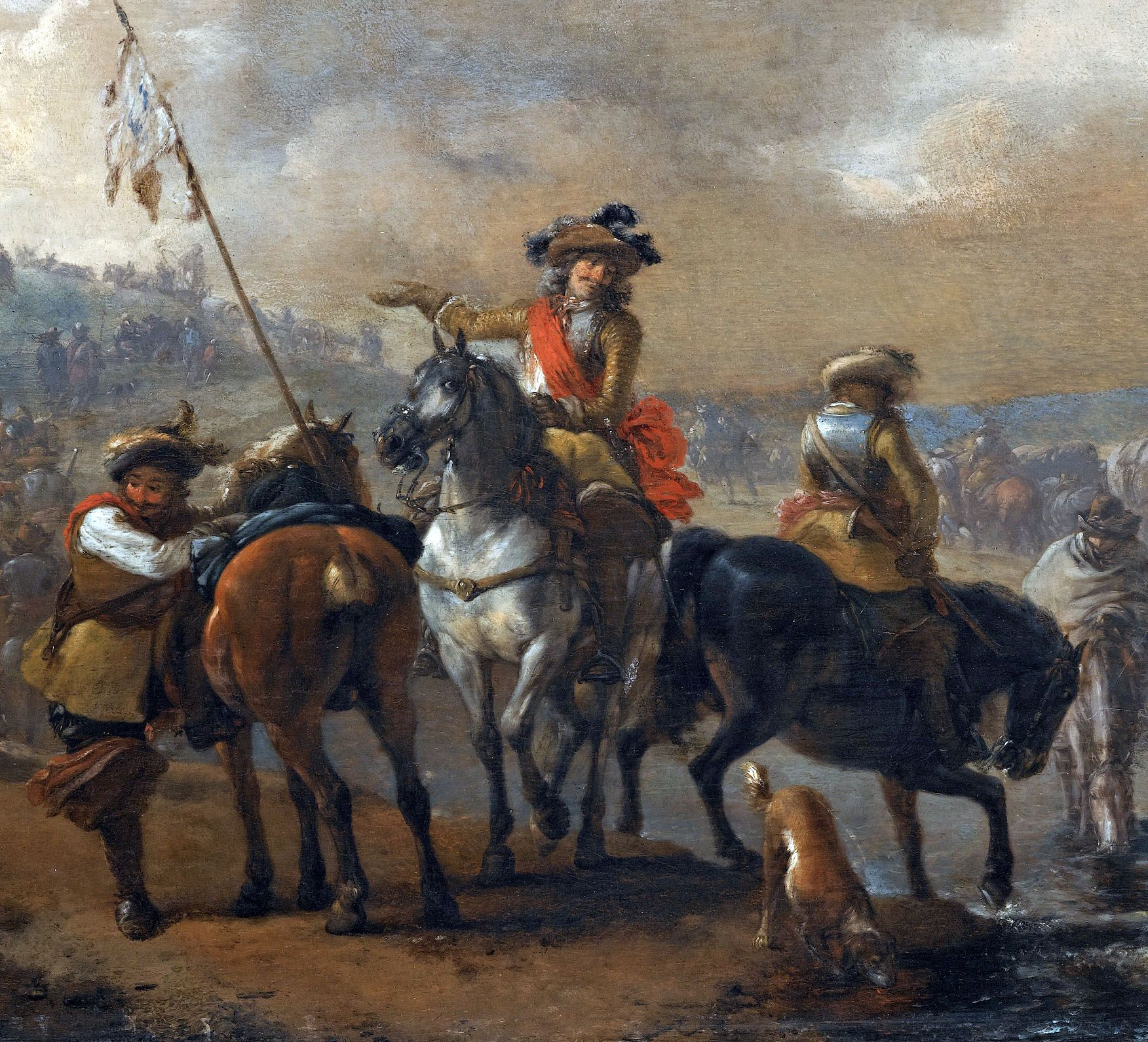 Habsburg general and his guards