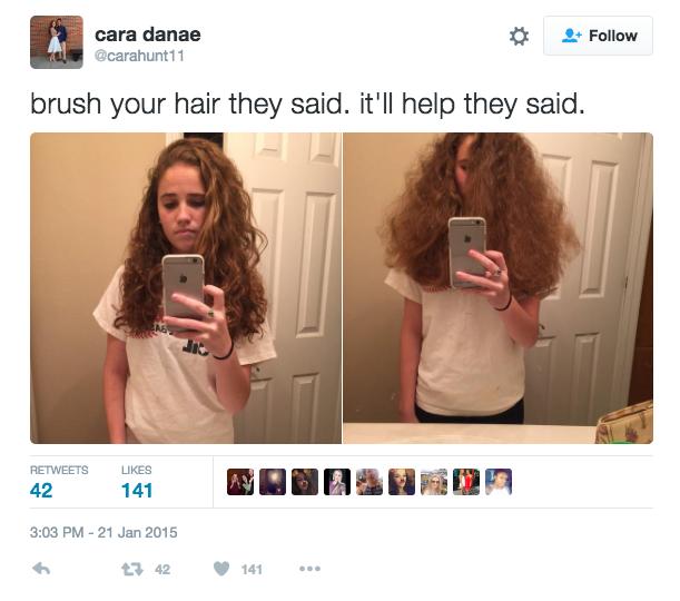 Curly Hair Meme Girl