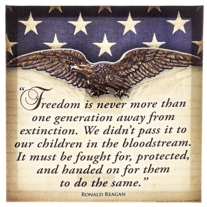 2017 Decor · Ronald Reagan Freedom Quote ...