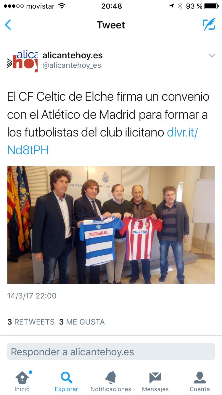 Salvador artesano zapaterías patrocinador del club de fútbol celtic elche
