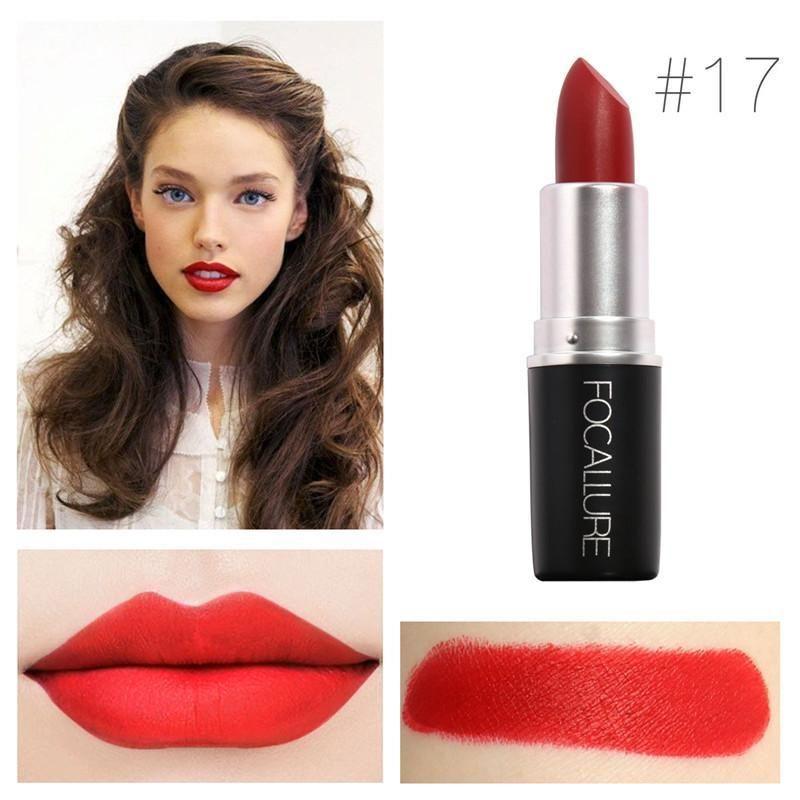 Beauty & Health Focallure 18 Colors Matte Lipstick Set Professional Makeup Waterproof Baby Lip Balm Nude Lipgloss Lip Stick Cosmetic N40