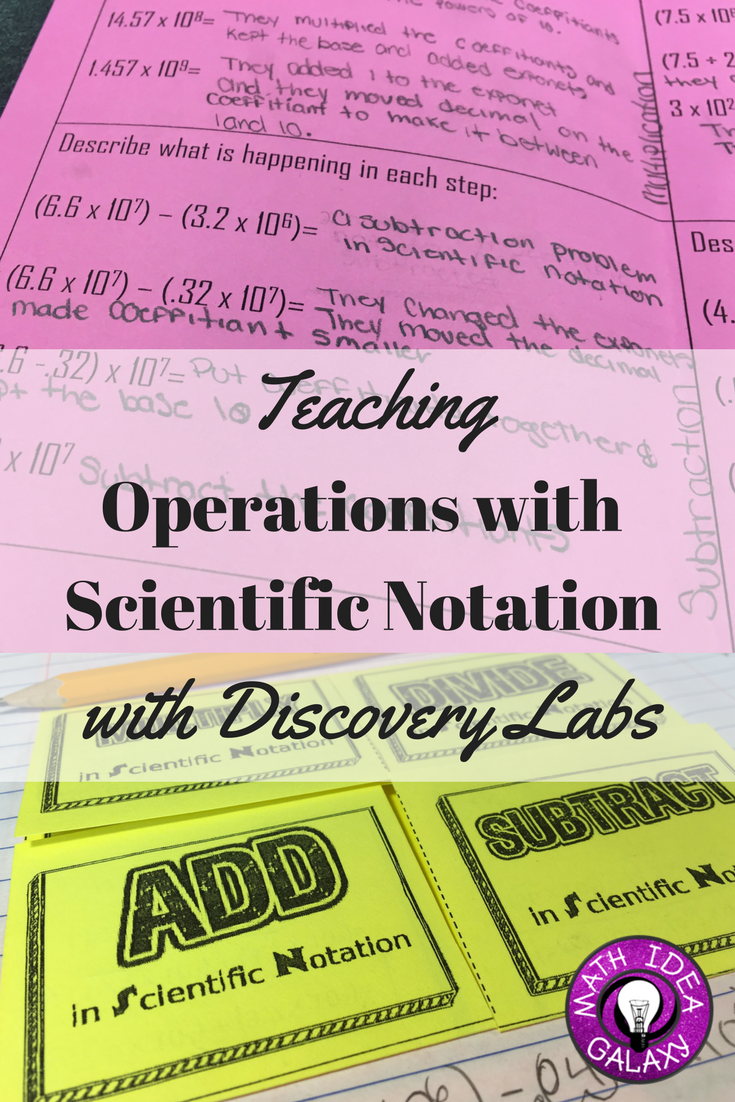 Teaching operations with scientific notation with discovery labs step by step guide to teaching students about operations with scientific notation through discovery labs falaconquin