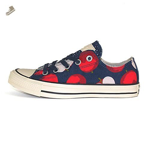 50e91ec020b69 Converse Womens Chuck Taylor All Star Print, APPLE-NAVY/RED, 9 US ...
