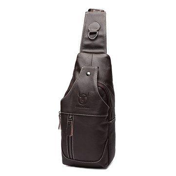 e67ba58e4 Genuino cuero comercial casual bolsa pectoral al hombro en bandolera bolsa  para hombres