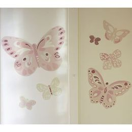 butterfly wall hook pottery barn | Camille Butterflies Decal Set: nursery wall décor, baby room wall ...