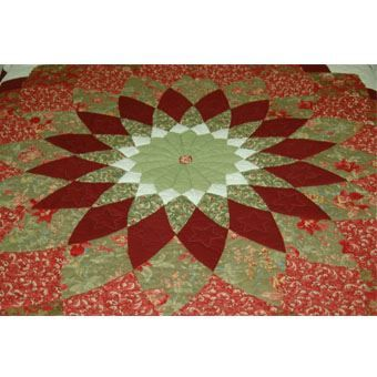 The Giant Dahlia Amish Quilt Designs - Authentic Amish Quilts
