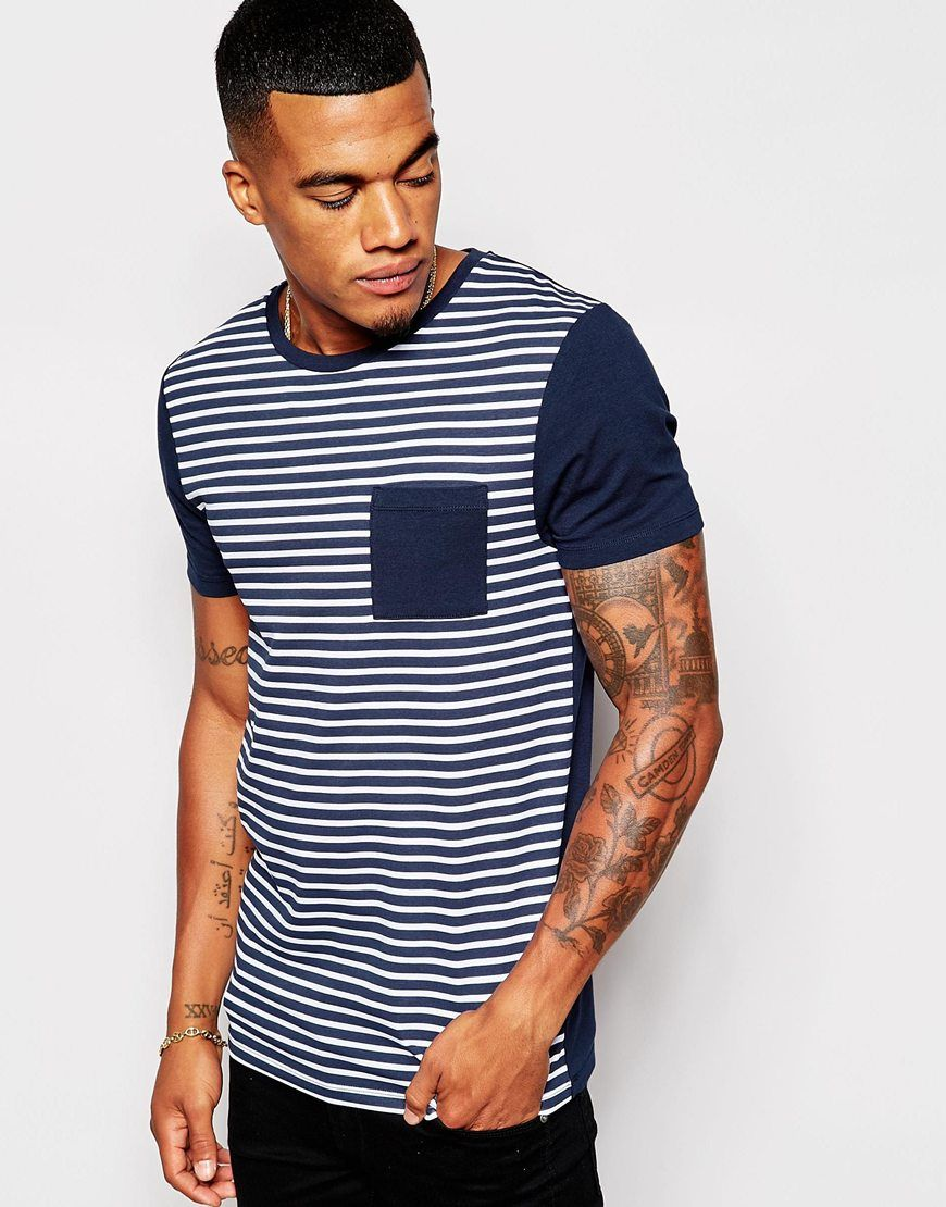 Muscle fit t-shirt by ASOS Stretch jersey Crew neck Contrast pocket to  chest Slim cut sleeves Tight fit to the body Skinny fit - cut closely to  the body ...