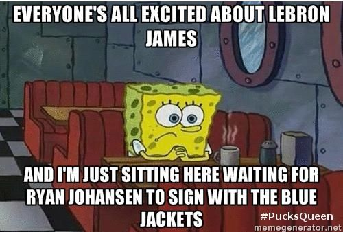 It was rough waiting for them to resign Johanson.