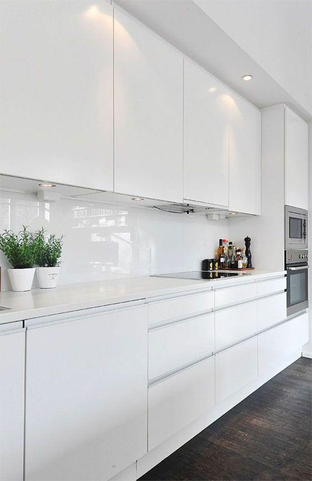 Las 50 cocinas blancas modernas ms bonitas Interior designing