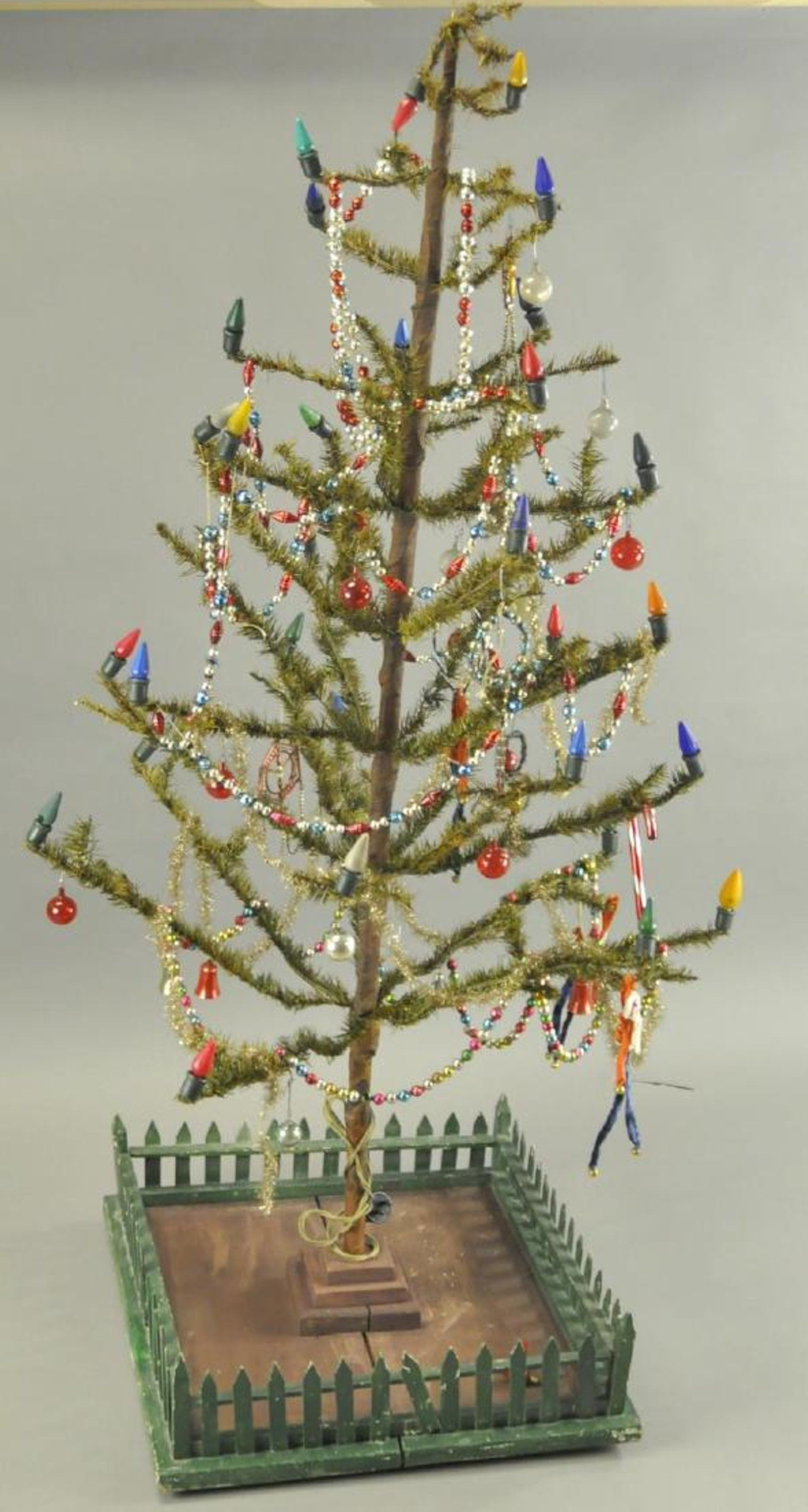 FEATHER TREE WITH LIGHTS on | Antique Christmas | Pinterest ...