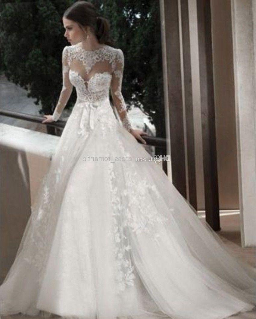 Long sleeve turtleneck lace wedding dress vestidos pinterest
