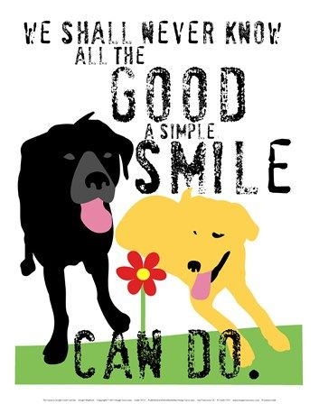 The Good a Simple Smile Can Do by Ginger Oliphant art print