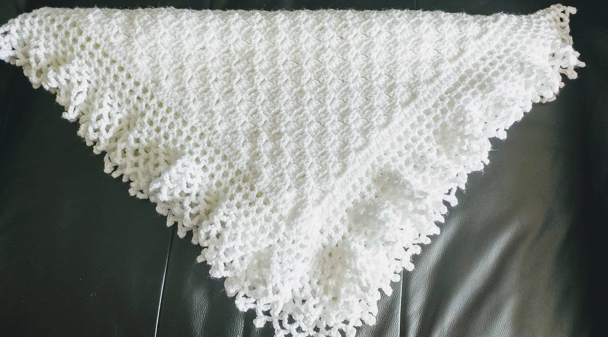 155dc3f39518c Flo's Lacy baby Afghan, Christening Shawl, Crochet PATTERN, baby ...