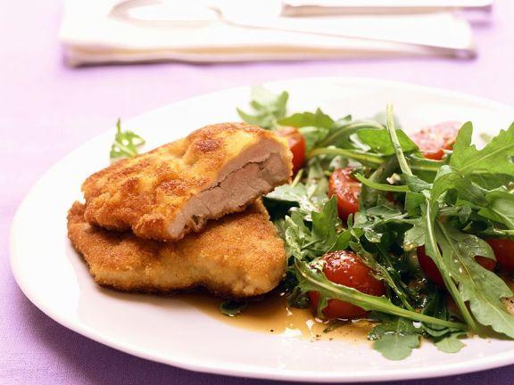 Schnitzel im Parmesanmantel ist ein Rezept mit frischen Zutaten aus der Kategorie Schwein. Probieren Sie dieses und weitere Rezepte von EAT SMARTER!