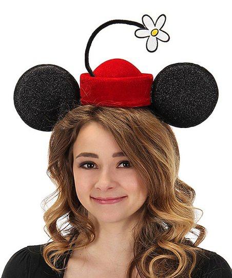 Disney Minnie Ears Vintage Flower Hat Headband