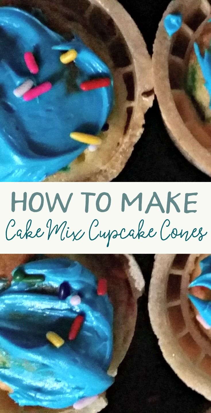 How To Make Cupcake Cones From Boxed Cake Mix Cupcake Cones