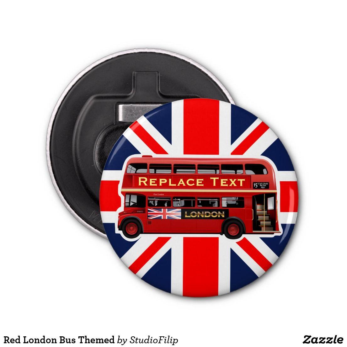 Red London Bus Themed Bottle Opener England Gift Wine Bottle London Bus
