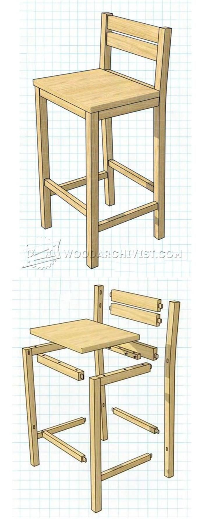 Diy Bar Stools Furniture Plans And Projects Woodarchivist Com