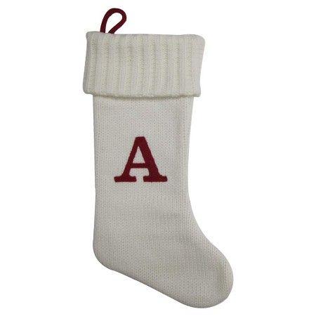 White Knit Monogram Christmas Stocking - Wondershop™ : Target ...