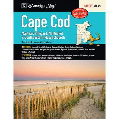 Universal Map Cape Cod Martha's Vineyard, Nantucket and Southeastern Massachusetts Atlas