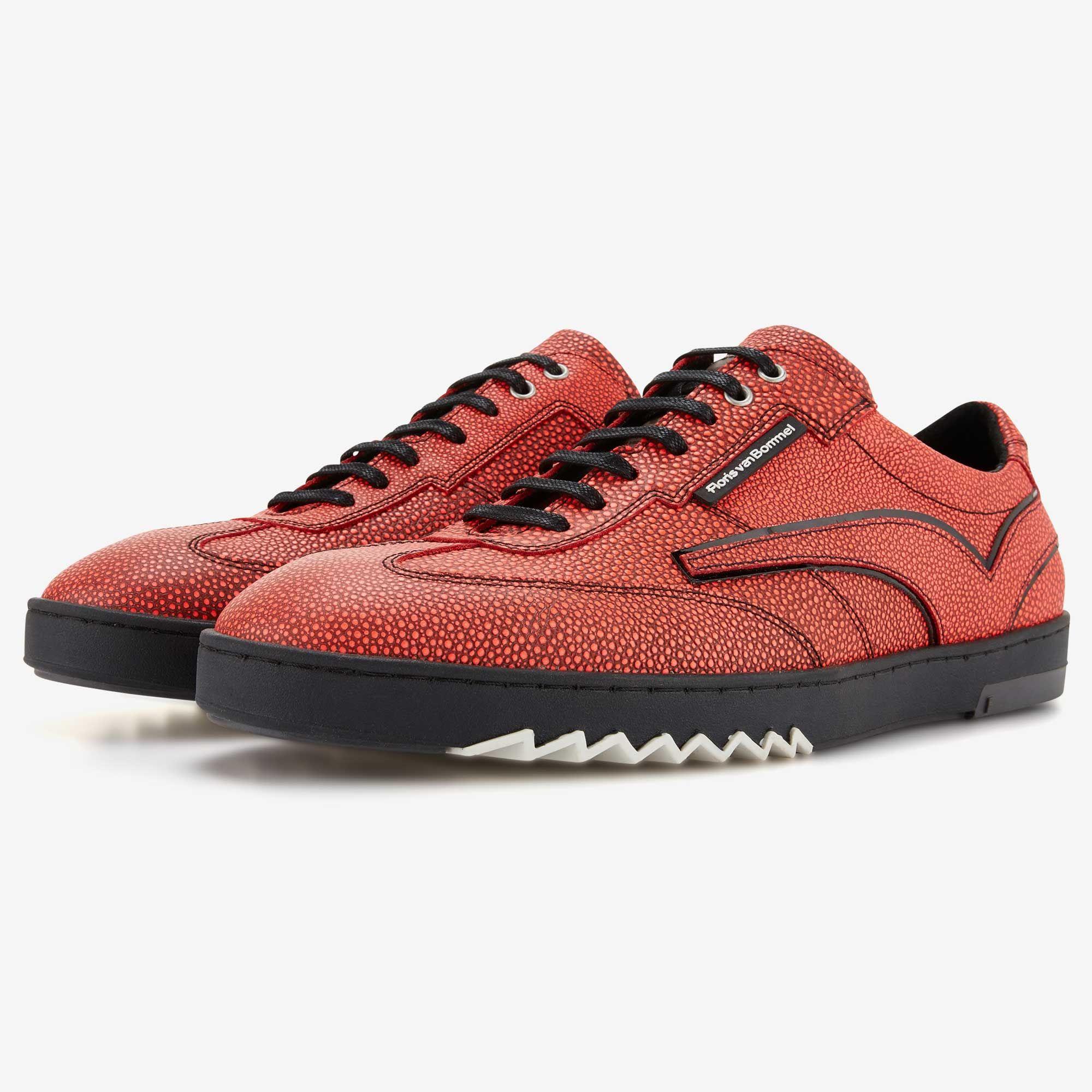 Red Leather Men S Sneaker 16094 08 Floris Van Bommel Sneakers Mens Sport Sneakers Mens Shoes Online