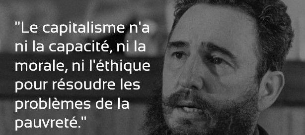 Citation De Fidel Castro Sur La Pauvrete Et Le Capitalisme
