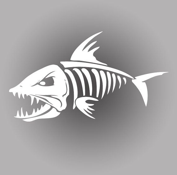 Death Skeleton Bonefish Fishing Decal Sticker Tackle Box Boat - Vinyl fish decals for boats
