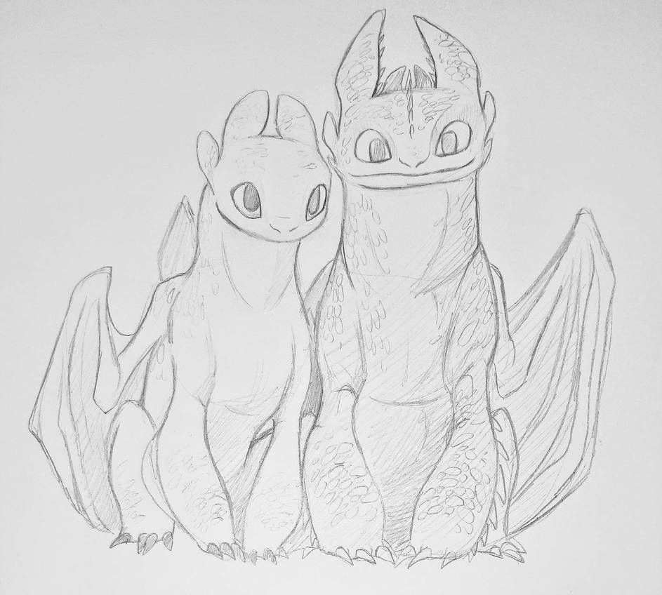 Light Fury And Toothless By Madpattii Dragon Sketch Dragon Drawing How Train Your Dragon