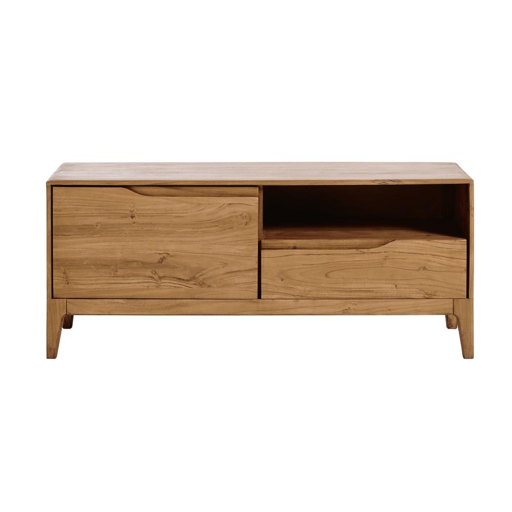 vintage tv m bel mit 1 t r und 1 schublade akazienholz. Black Bedroom Furniture Sets. Home Design Ideas