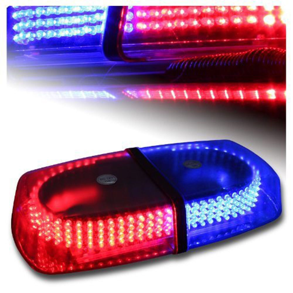 Super Bright 240 Leds Red And Blue Car Top Roof Emergency Beacon Light Police Warning Flash Strobe Light Bar Strobe Lights Led Strobe Cars Trucks